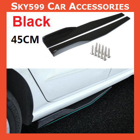 Universal Black Side Skirt Diffuser 45CM