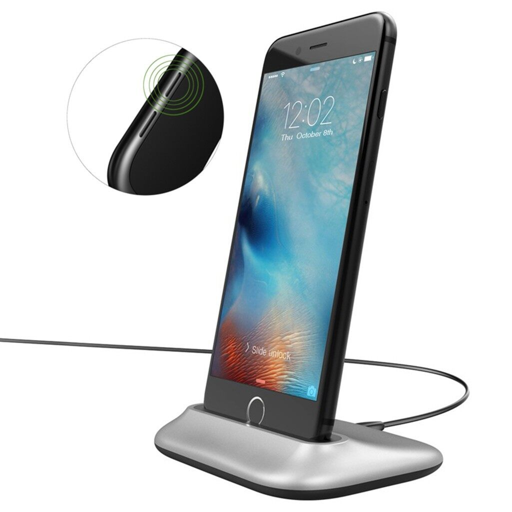 Chargers - charging station aluminum alloy desktop charging station - SILVER / BLACK