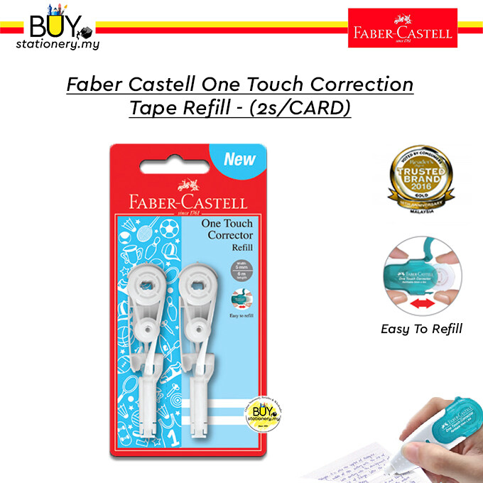 Faber Castell One Touch Correction Tape Refill - (2s/CARD)