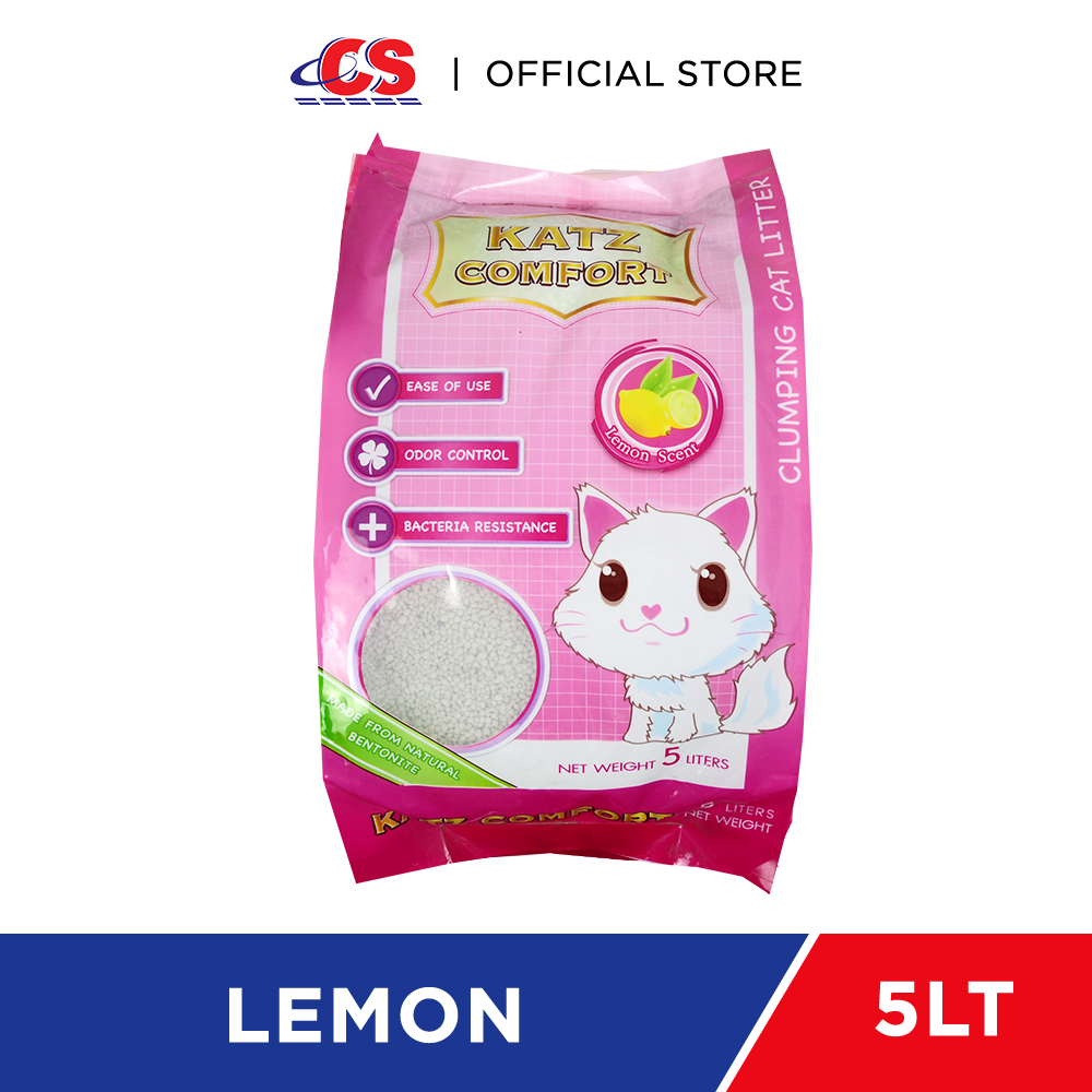 KATZ COMFORT Clumping Cat Litter Lemon 5L