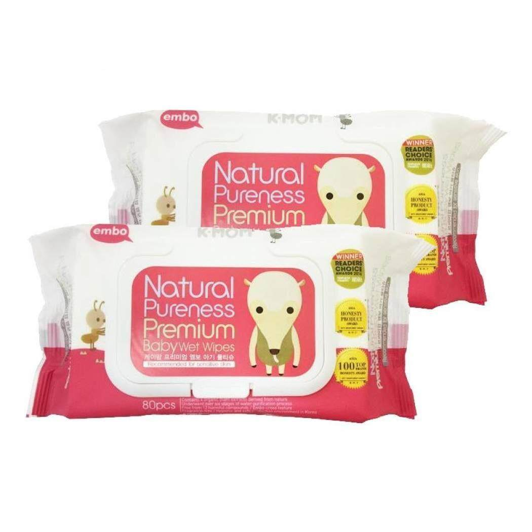 K-Mom Naturefree Premium Baby Wet Wipes with Lid 80pcs (4pack)