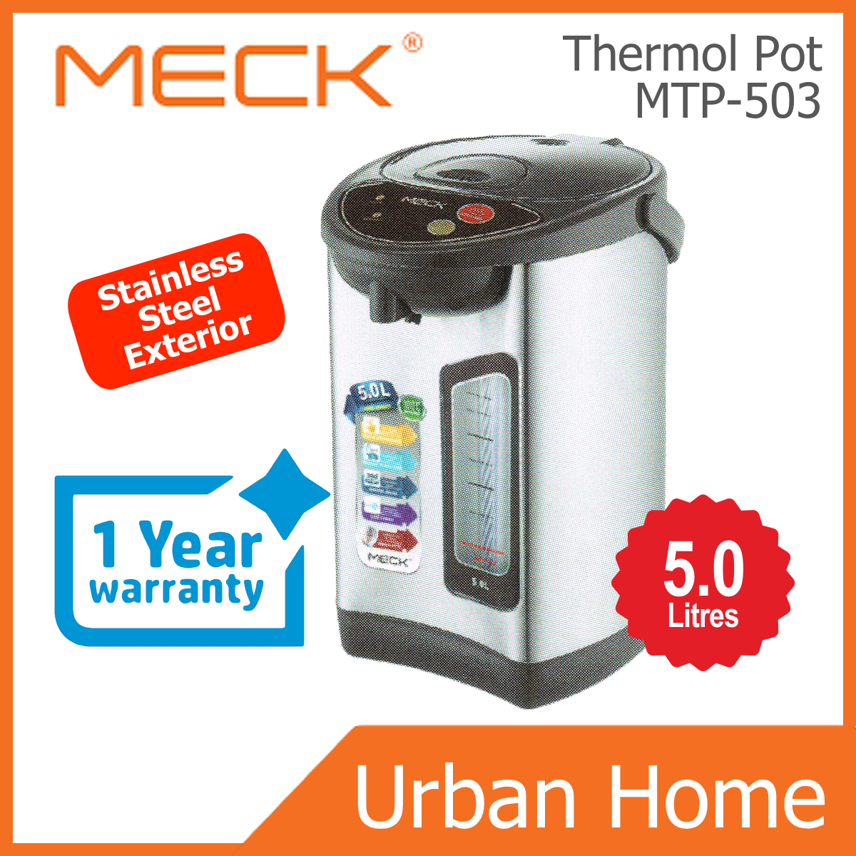 MECK 5.0L Thermo Pot (MTP-503/MTP503)