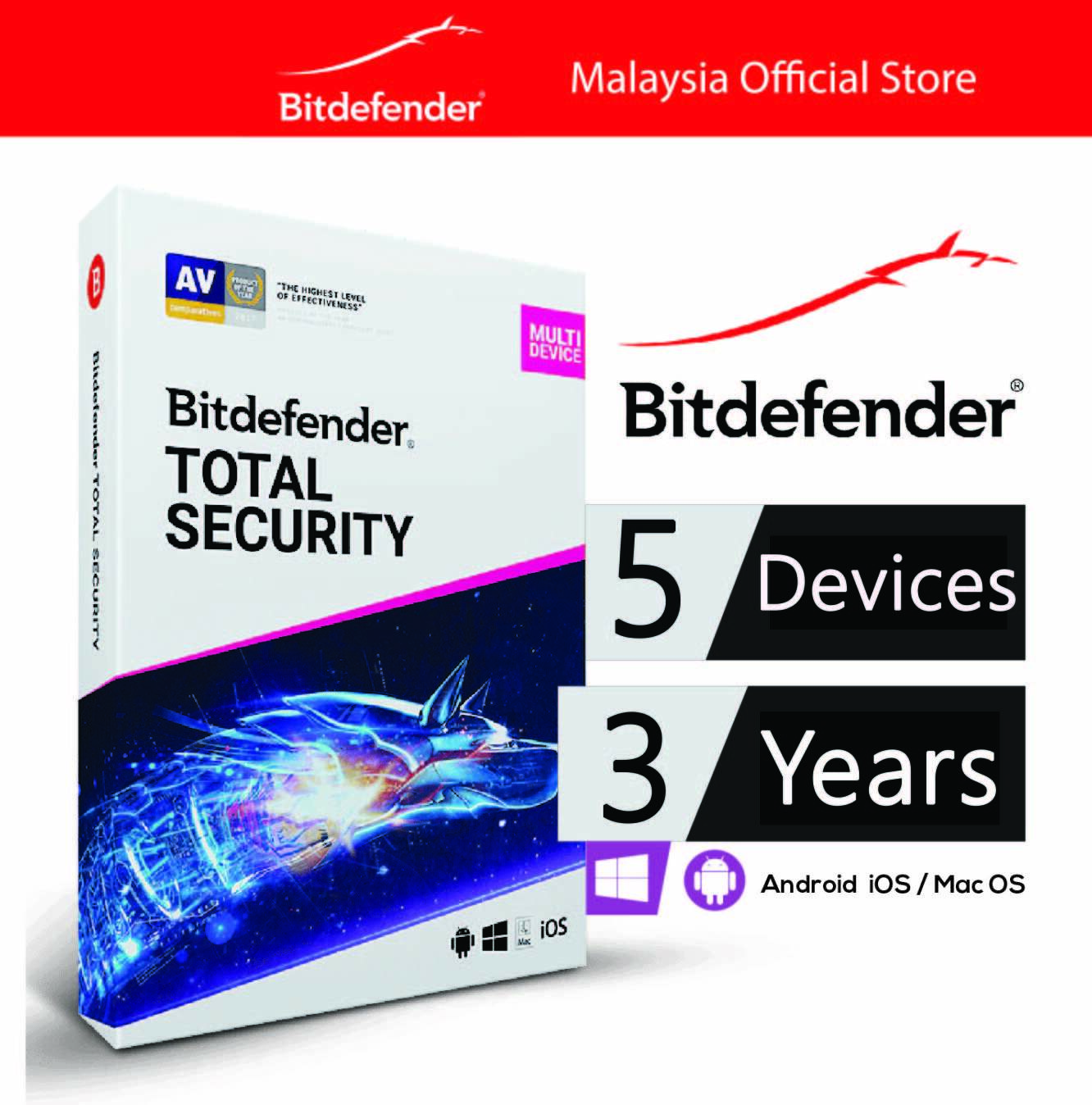 BitDefender Total Security Multi Device - 5 Devices 3 Years
