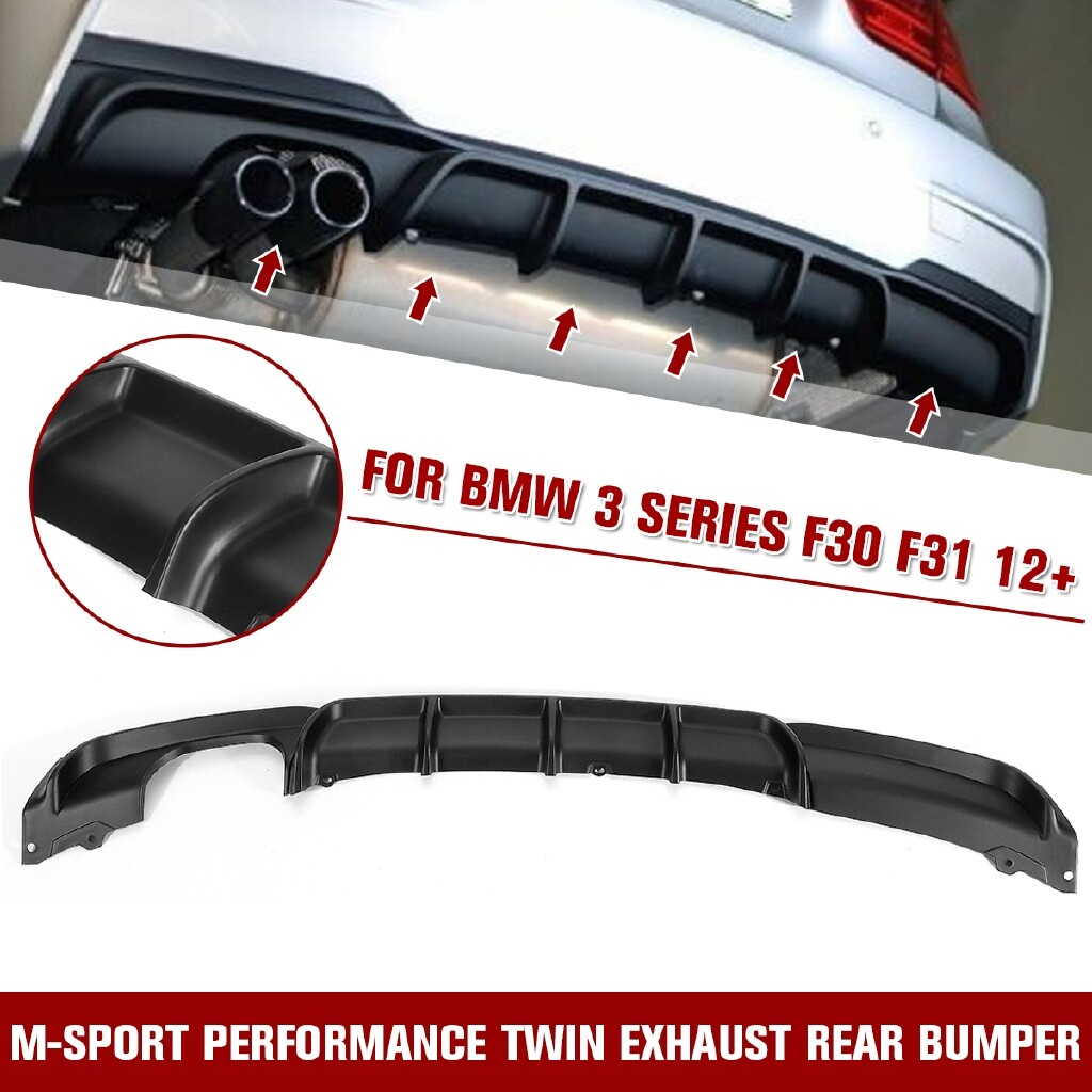 Car Lights - Rear Bumper Diffuser Twin Tailpipe For BMW 3 SERIES F30 F31 12+ M Performance - Replacement Parts