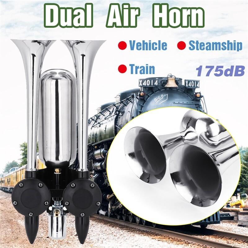 Automotive Tools & Equipment - Car Dual Air Horn 24V 175db Universal fitvehicle and steamship which has air supply device - Car Replacement Parts