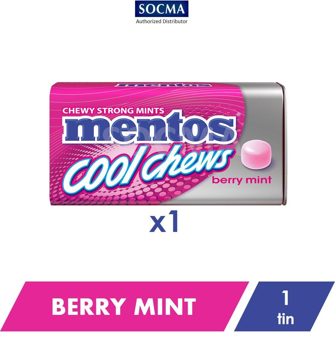 Mentos Cool Chews Tin Berry Mint 38g [1]