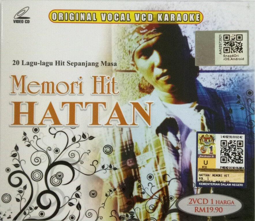 Hattan Memori Hit Original Vocal VCD Karaoke