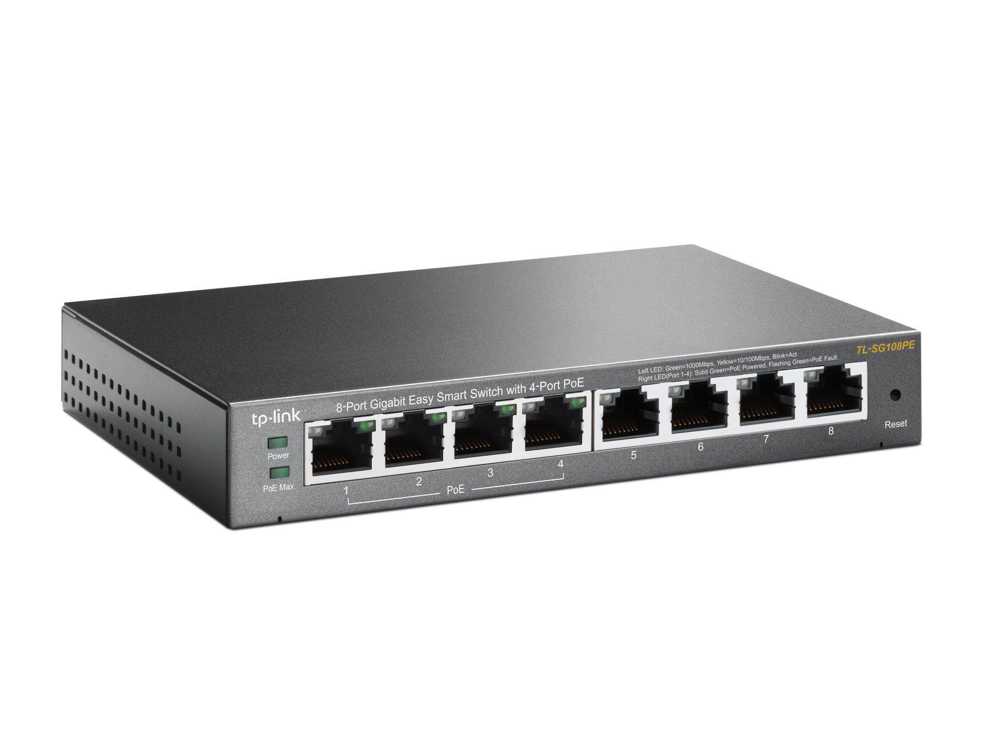 READY STOCK-8-Port Gigabit Easy Smart Switch with 4-Port PoE TL-SG108PE