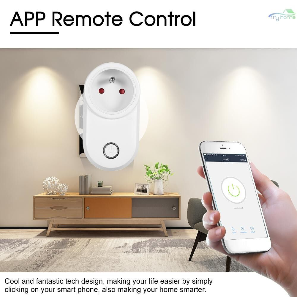 Plugs & Adapters - MINI Smart Power Plug Smart Home Socket Voice Control Compatible with Amazon Echo & for Google Home - 3 / 2 / 1
