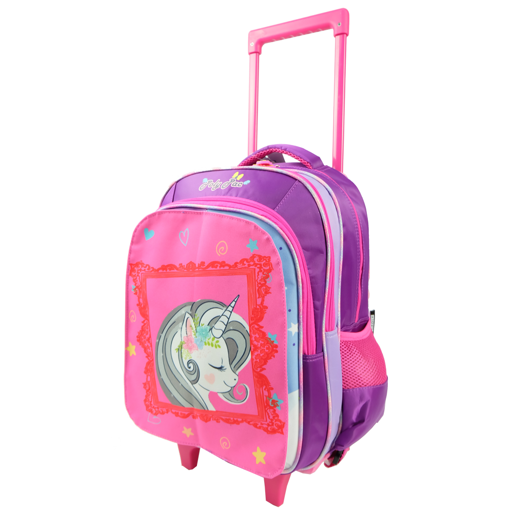 Poly-Pac PS1941R 16 Inch Trolley Ergonomic Flip-Able Magnetic School Bag