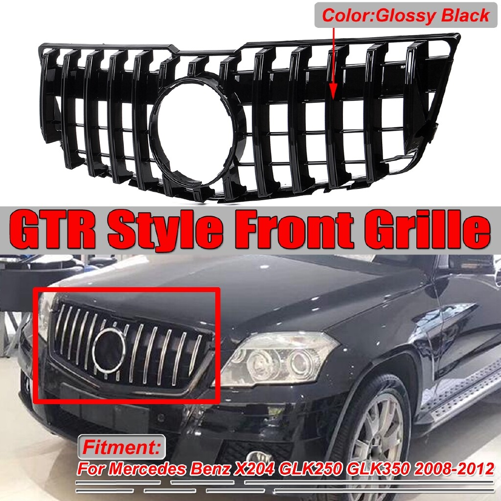 Engine Parts - For Mercedes Benz X204 GLK250 GLK350 2008-2012 GT Style Grille Front Grill Black - Car Replacement