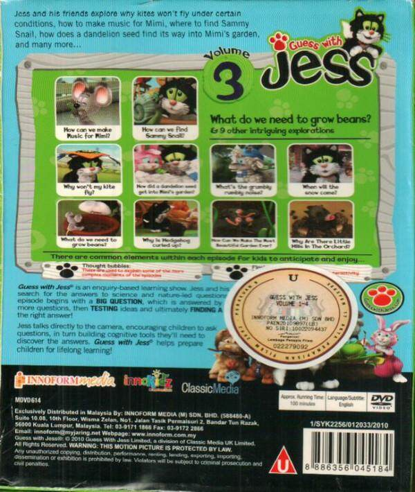 Guess With Jess Vol.3 DVD Asking Thinking Exploring Testing Ideas