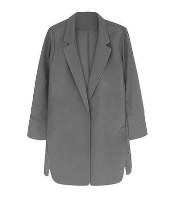 (Pre Order14 Days JYS Fashion Korean Style Women Blazer Collection 525a- 7591col525a-7591--Grey -S