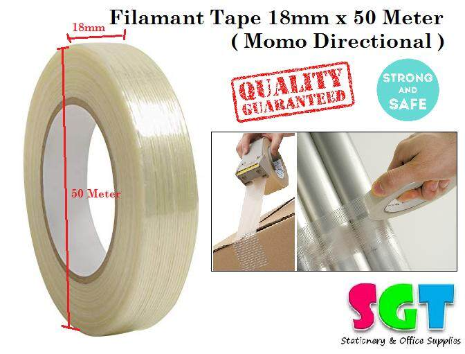 Filament Tape 18mm x 50 Meter (mono directional)