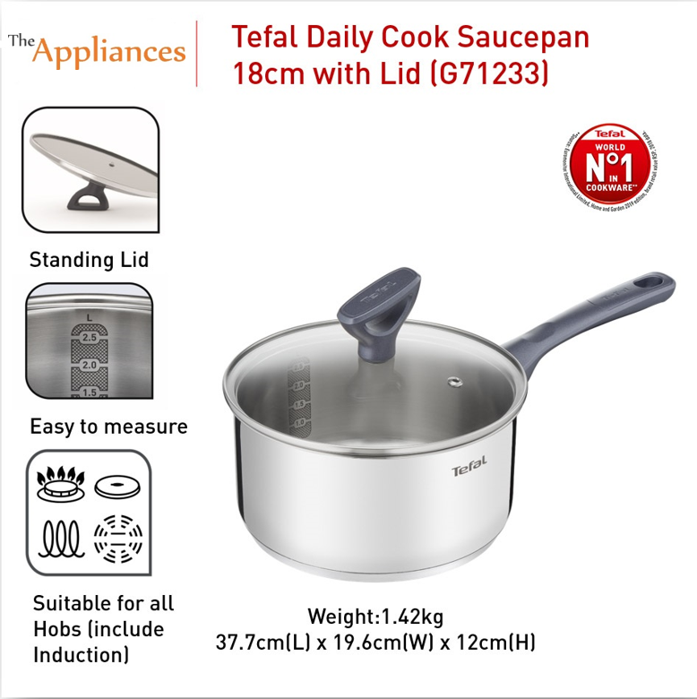 Tefal Daily Cook Saucepan with Lid 18cm