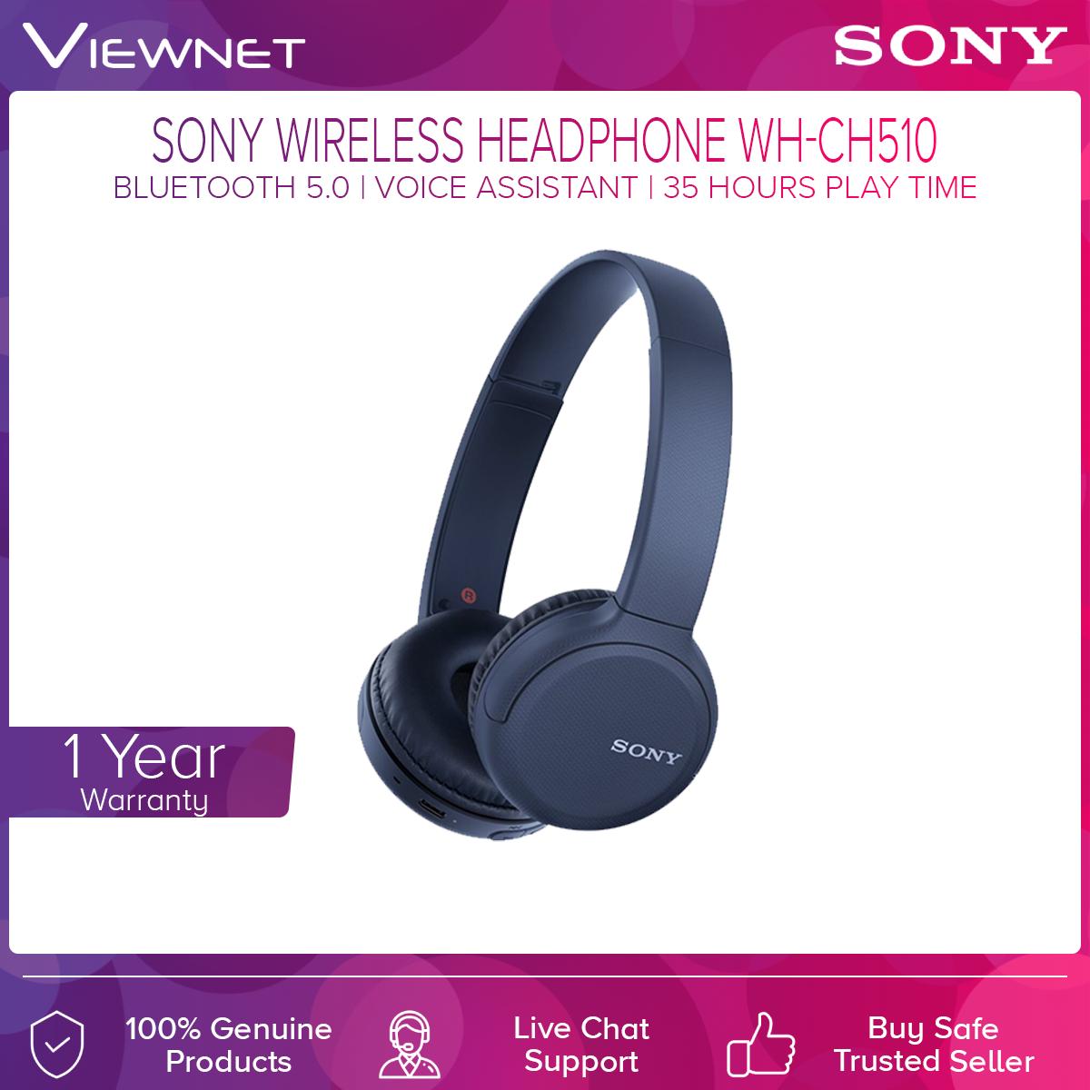 Sony WH-CH510 Wireless Bluetooth Headphones 35Hours battery life 30mm Driver unit Lightweight Bluetooth wireless