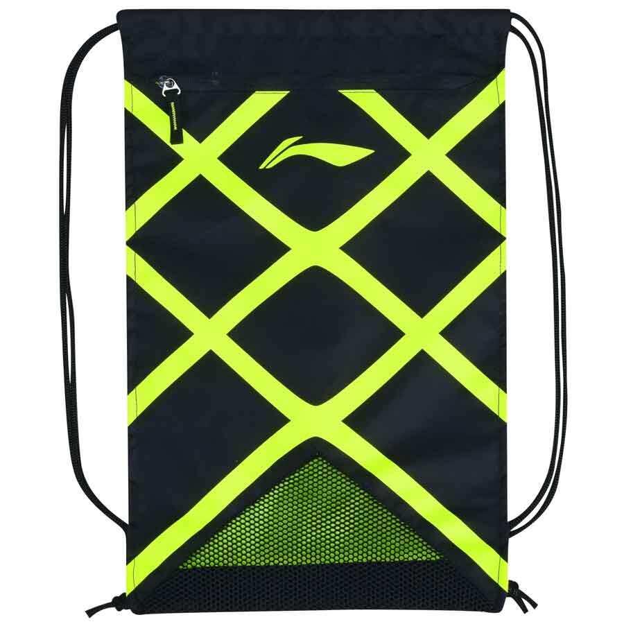Li-Ning Racquet Shoes Bag - Black/Neon Green ABJM148-1