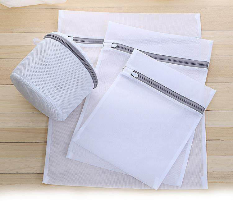 5 Pieces Set Protect Bra Laundry Basket Underwear Clothes Net Zip Wash Basket Washable Bag