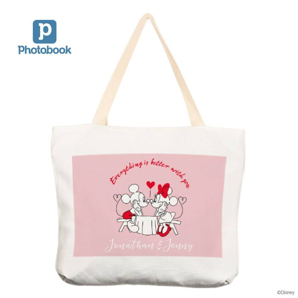 [e-Voucher] Photobook 17 x15  Personalised Disney Canvas Tote Bag - Single Sided