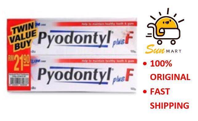 PYODONTYL PLUS F 100gm Twin Pack