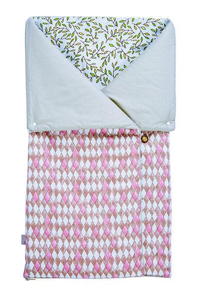 4-in-1 Swaddle Pouch & Blanket - Diamond Lattice ZK-17040