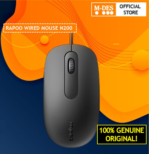 Rapoo N200 Wired Optical Mouse Black [Warranty 2 Years]
