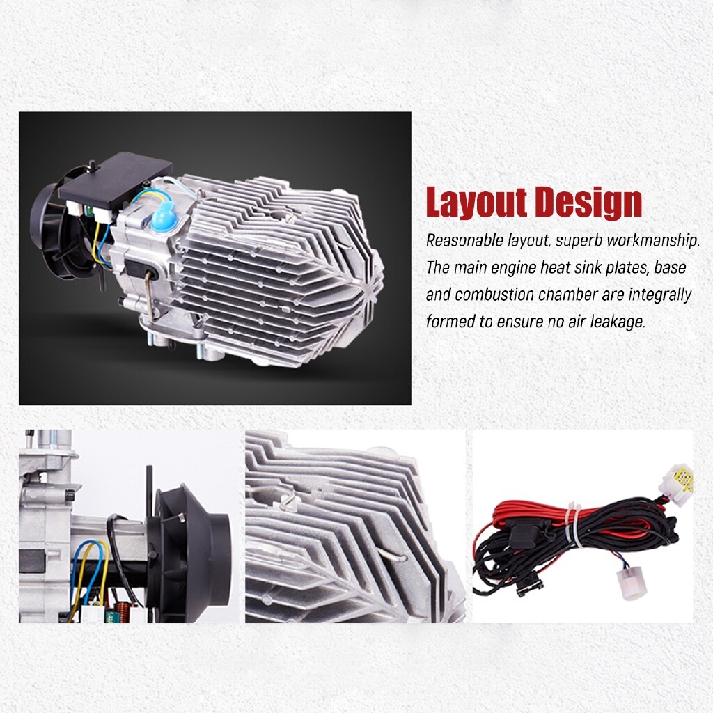 Engine Parts - 8KW 12V Diesel Air Heater LCD Thermostat Low Noise For Trucks Boat Car Trailer - Car Replacement