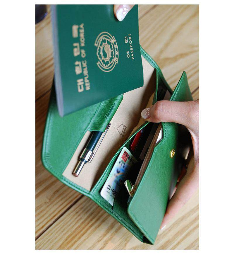 Bolster Store Unisex Travel Wallet Handphone Organizer Card Slot Pen Trippling Clutch Compartment Wallet
