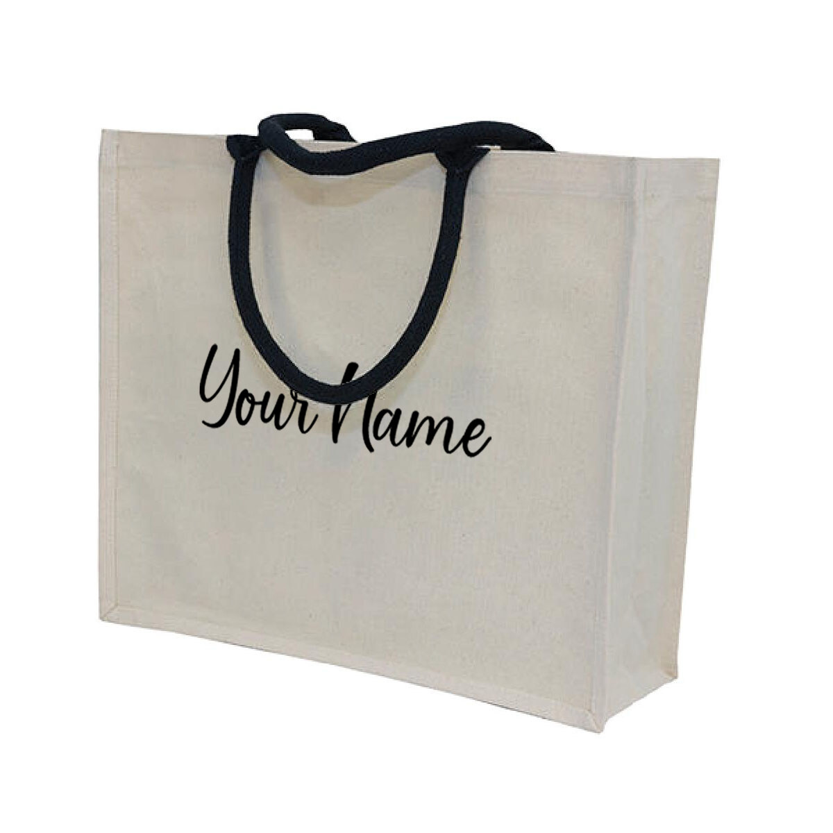 MyUnique Canvas Bag with Name CB06 (Black)
