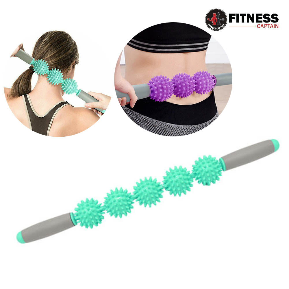 Fitness Captain 3 Wheel Yoga Trigger Fascia Cellulite Relax Muscle Roller