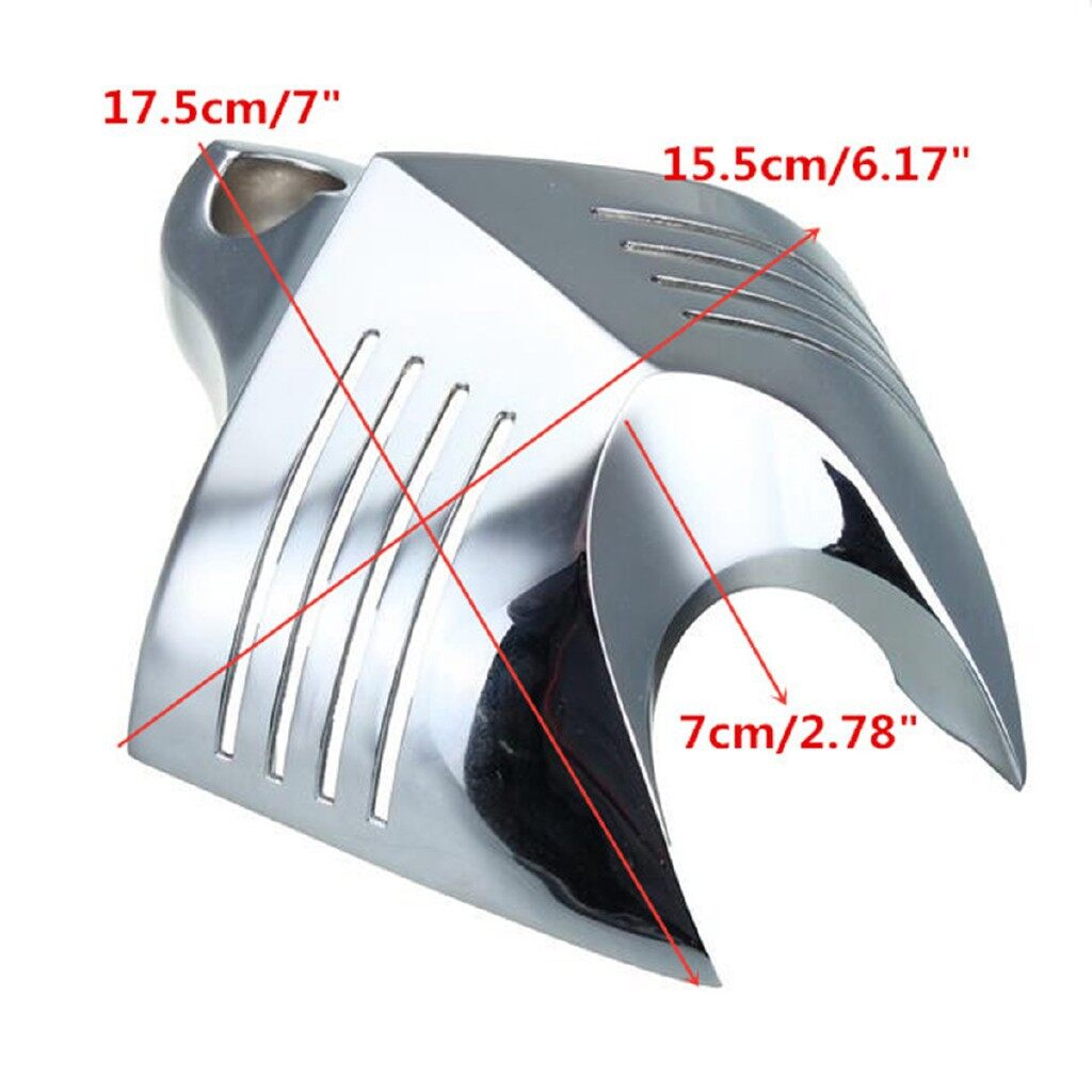 Moto Accessories - Twin Horn Cover Cowbell Chrome For Harley Davidson ALL VRODS 19922014 - Motorcycles, Parts