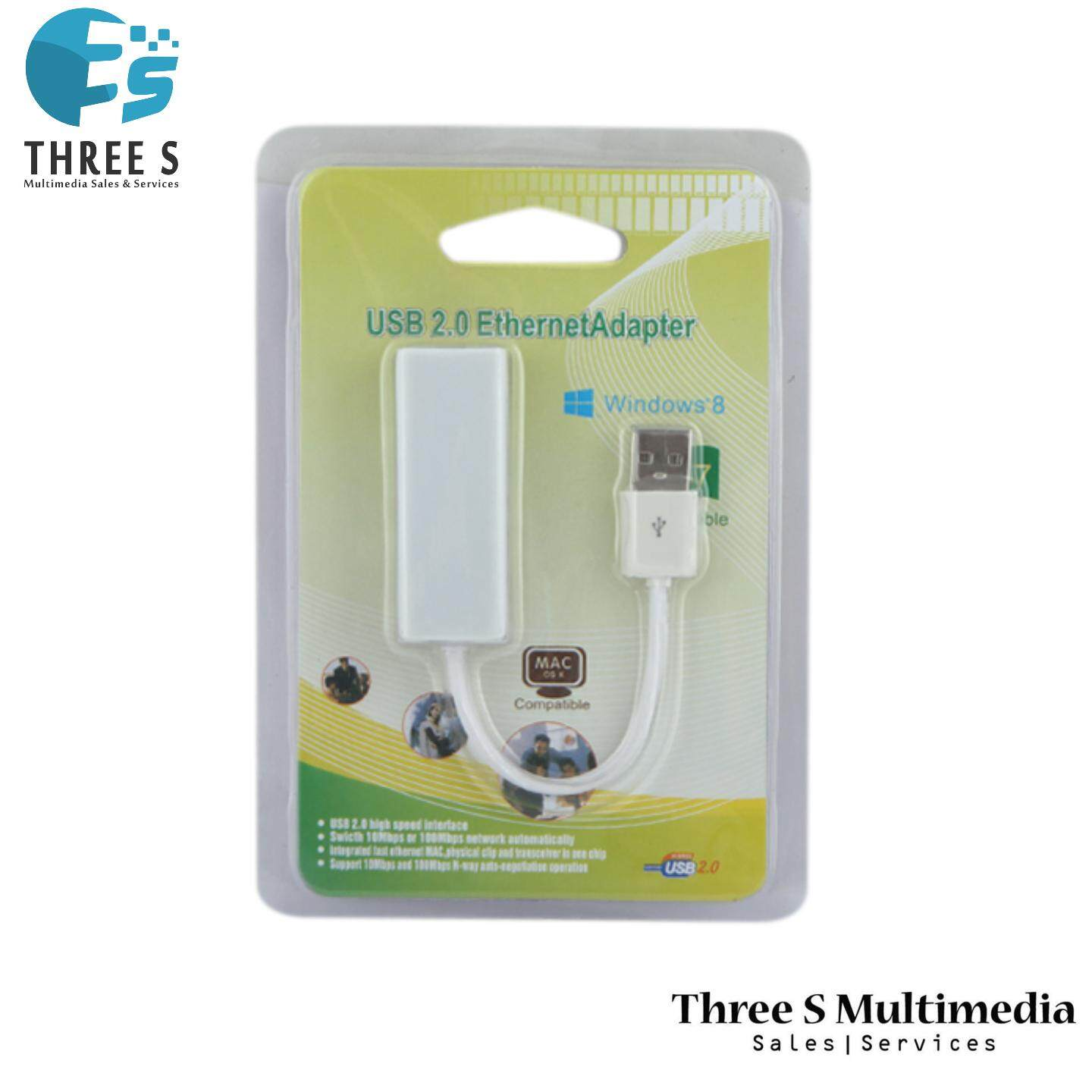 READY STOCK - USB TO LAN RJ45 10/100Mbps NETWORKS