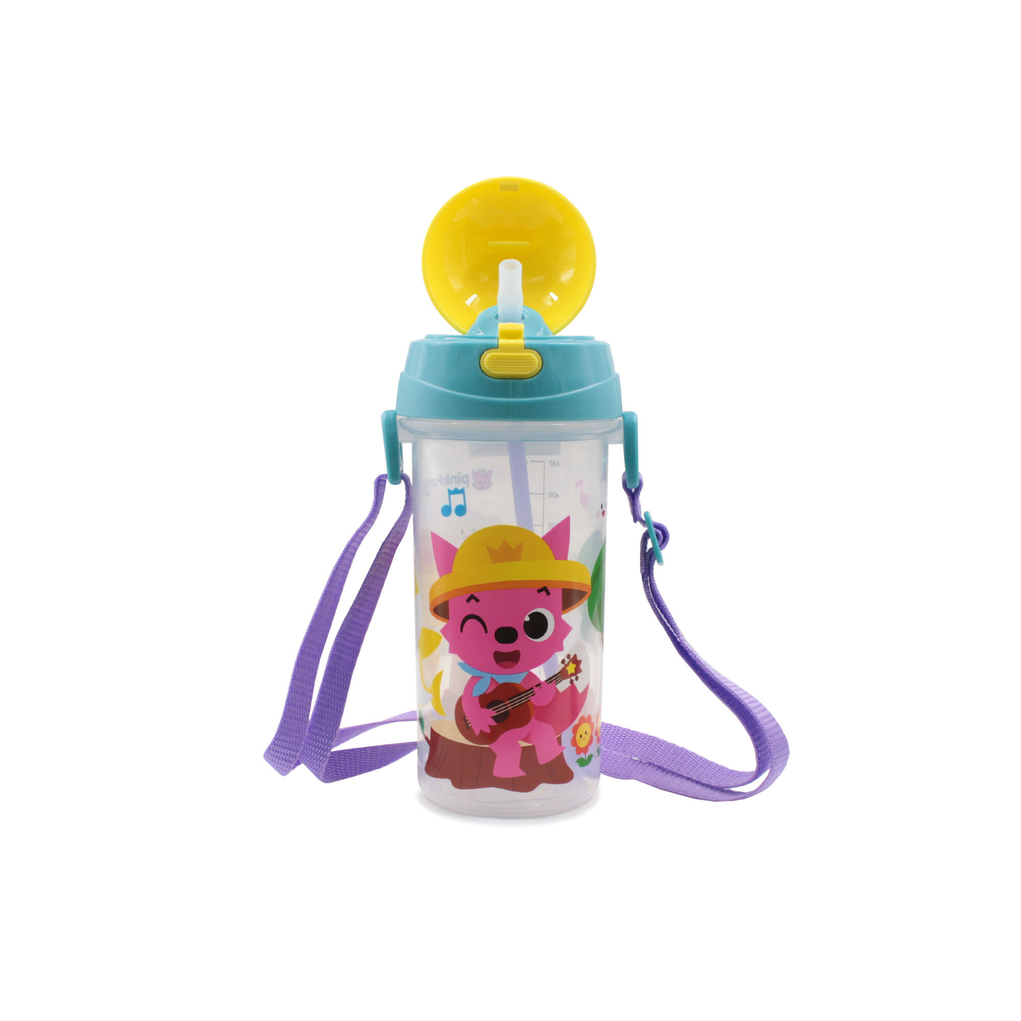 Pinkfong Baby Shark 550ML BPA Free Children Kids Toddler Tritan Bottle With Straw And String