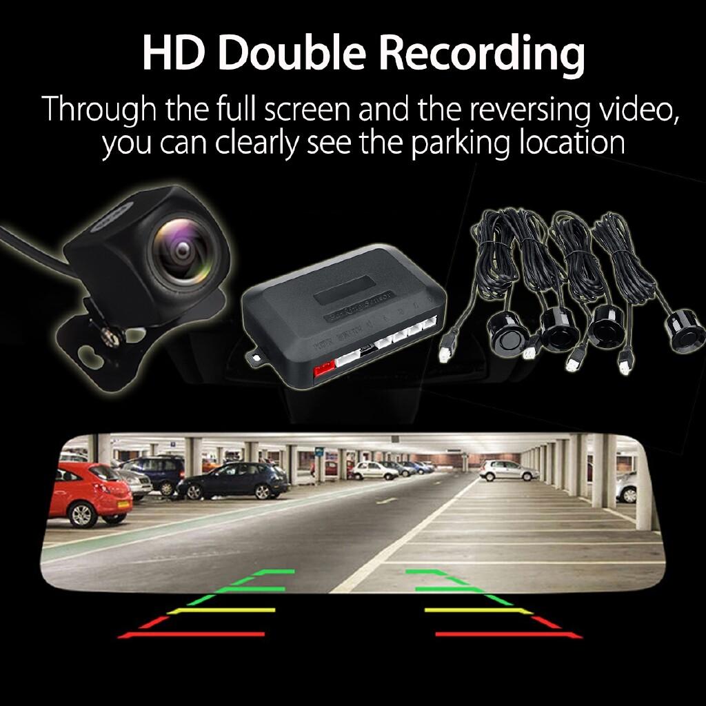 Sports & Action Cameras - 3in1 Car Reariew Mirror Dual 1080P Lens Dash Camera DVR Radar Parking Sensor - Drones