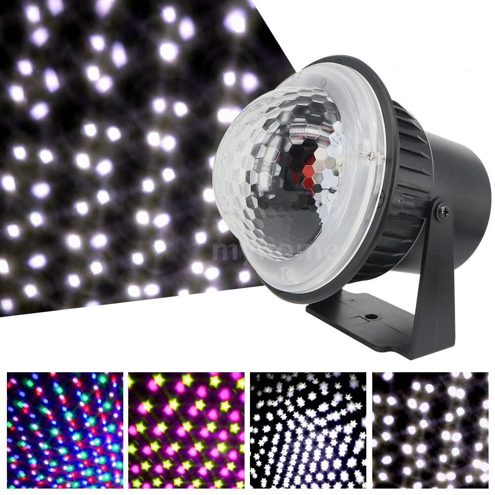 Lighting - AC85V-240V 5W LEDs MINI Projector Light LEDs Snow Falling Snowflake Stage Lamp Lighting Fixture - Home & Living