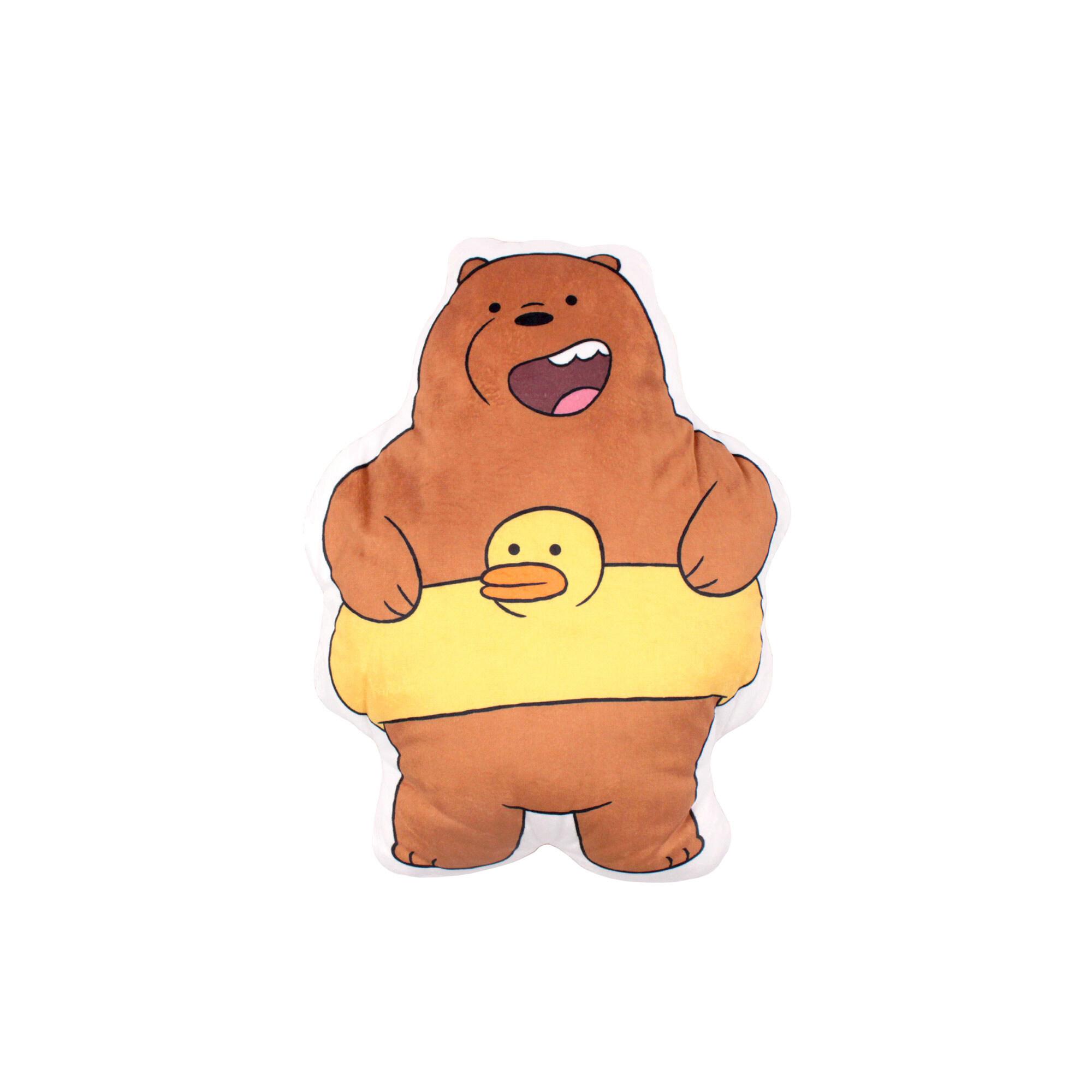 We Bare Bears Grizz Flat Cushion -  Brown Colour