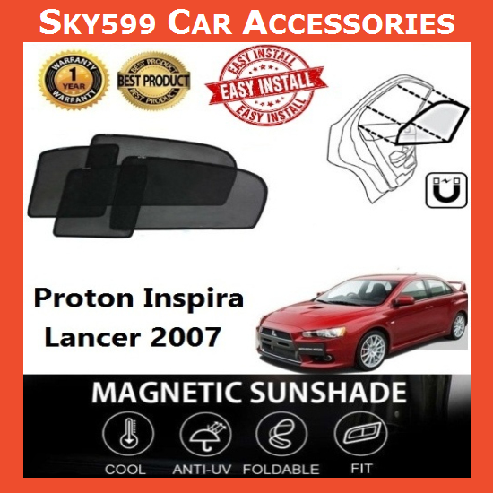 Proton Inspira/Lancer 2007 Magnetic Sunshade ?4pcs?