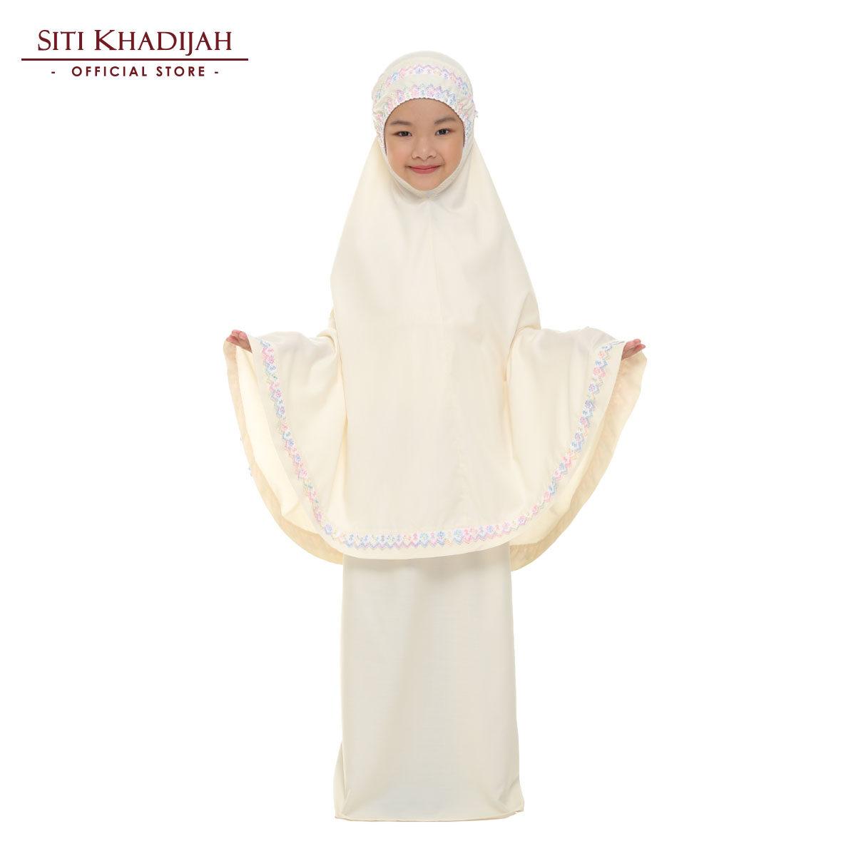 Siti Khadijah Telekung Cilik Samira in Soft Yellow