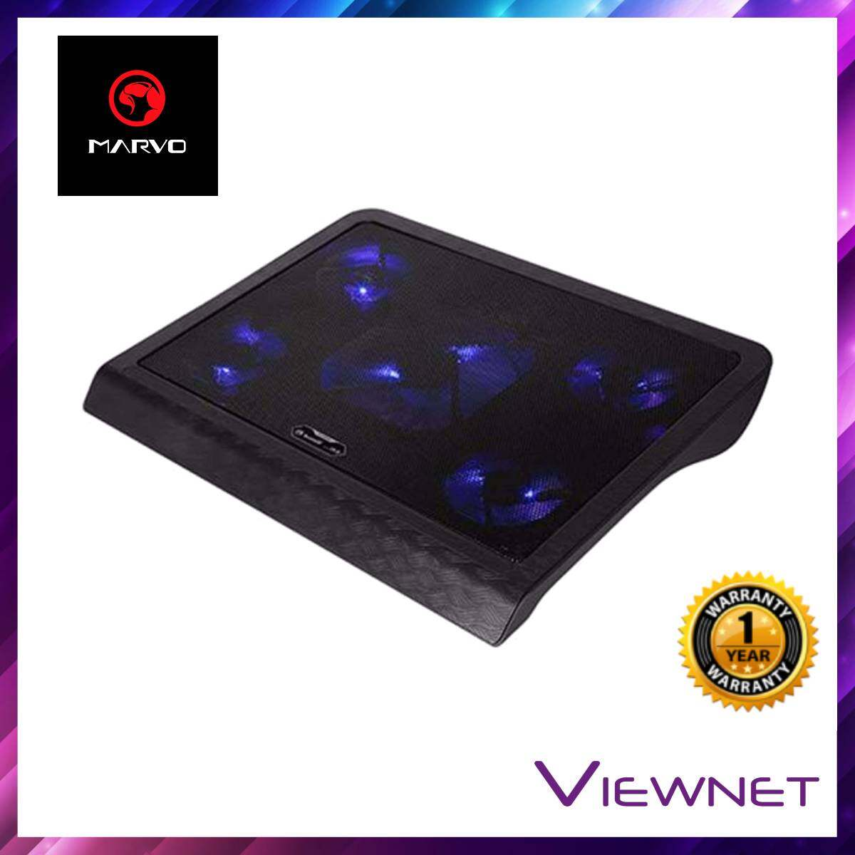 MARVO Notebook 4 Fans With LED Blue Cooler Pad (FN-33BL)