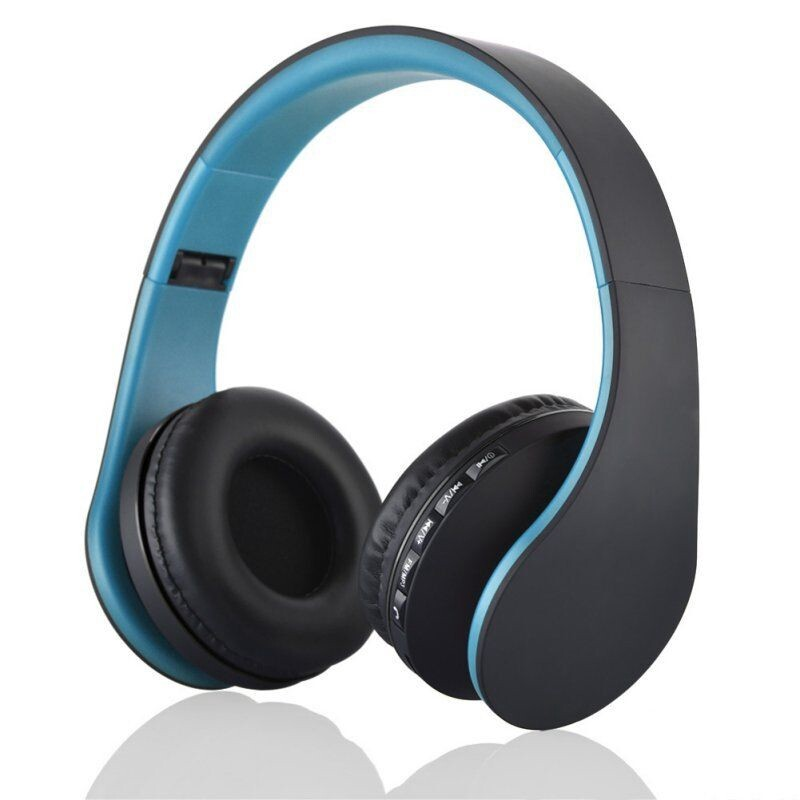 4 in 1 WIRELESS BLUETOOTH Head SET & Wired Earphone with Mic Micro SD/TF FM Radio - BLACK / RED / GOLD / BLUE