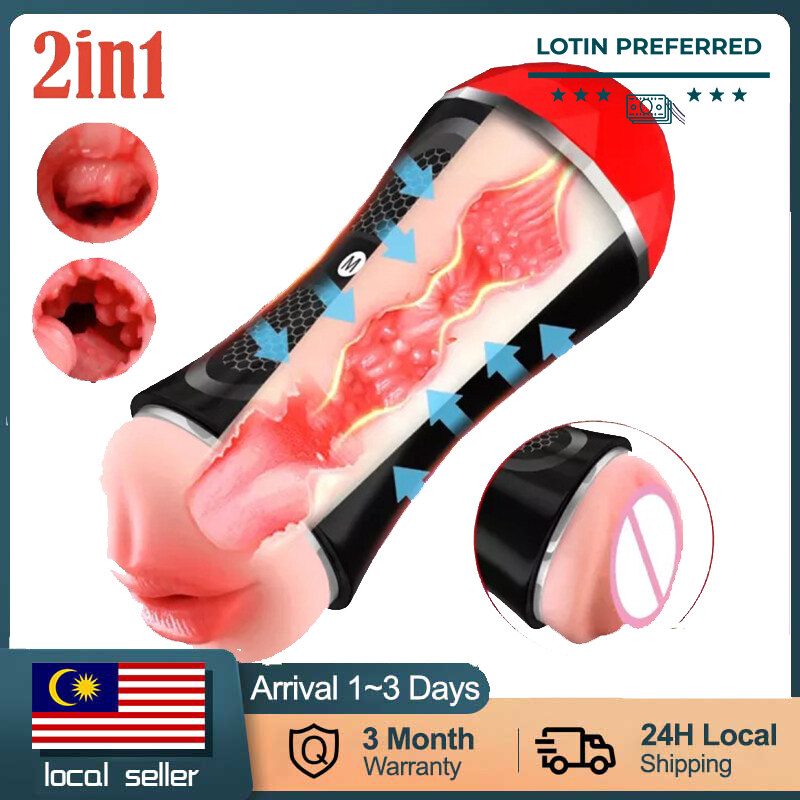 【READY STOCK】Soft Silicone Reusable Masturbator Cup Double Head Vacuum Masturbator Boy Masturbation Cup Adult Toys For Men Real Textured Vagina and Mouth Detachable Pocket Pleasure jet cup Hercules shock adult washable sex toy for b