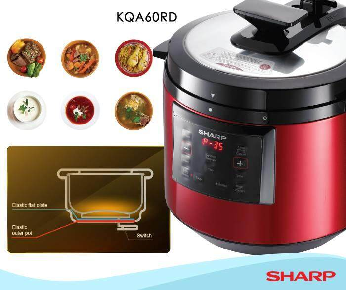 Sharp 6.0L Pressure Cooker KQA60RD With Double Inner Pots  (SHARP PREMIUM OUTLET)