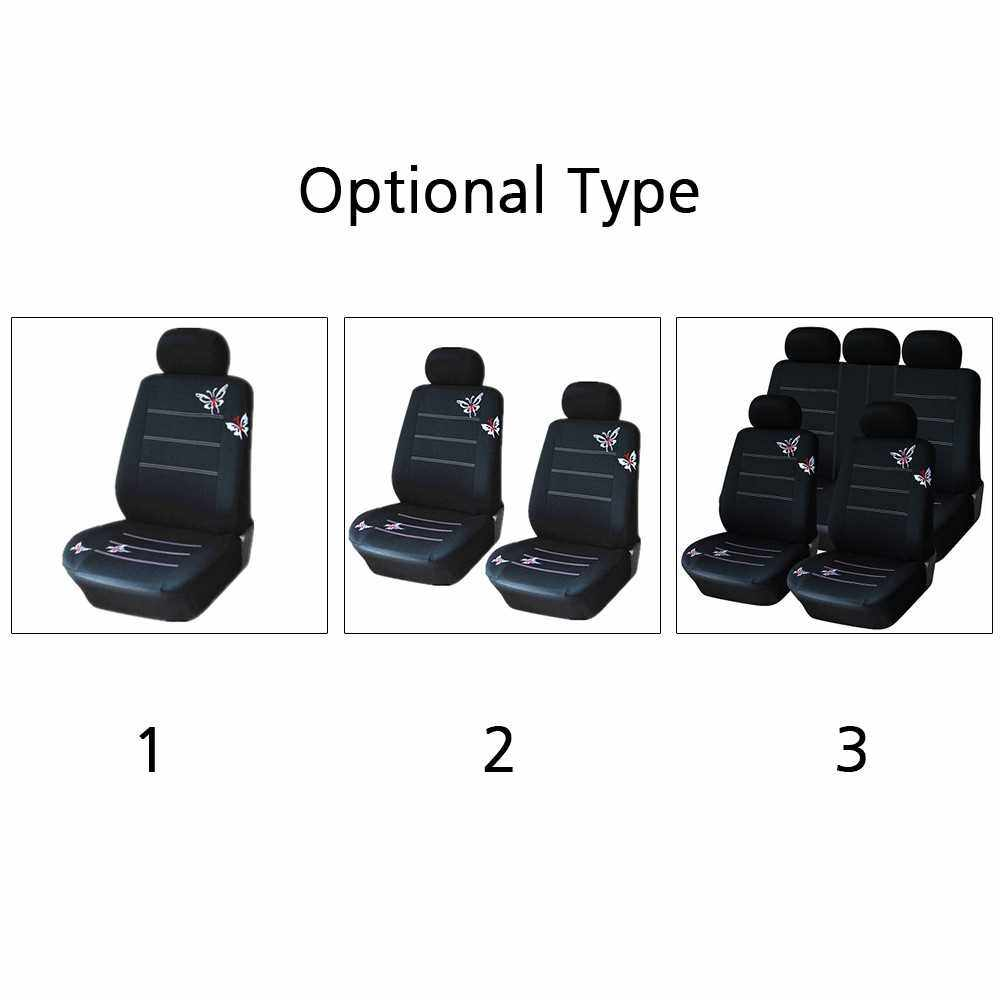 Universal Butterflies Butterflypattern Embroidered Car Seat Cover (2)