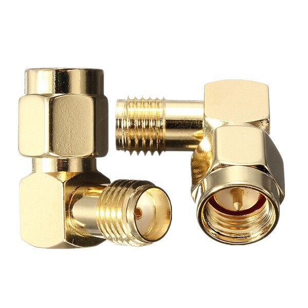 Cool Gadgets - SMale To SFemale Jack Right Angle Crimp RF Adapter Connectordb - Mobile & Accessories