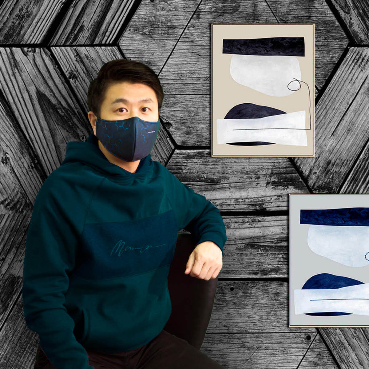 TECHGEAR Washable Face Mask (Lake Blue) FREE Pouch & Extender Mask FAST DELIVERY