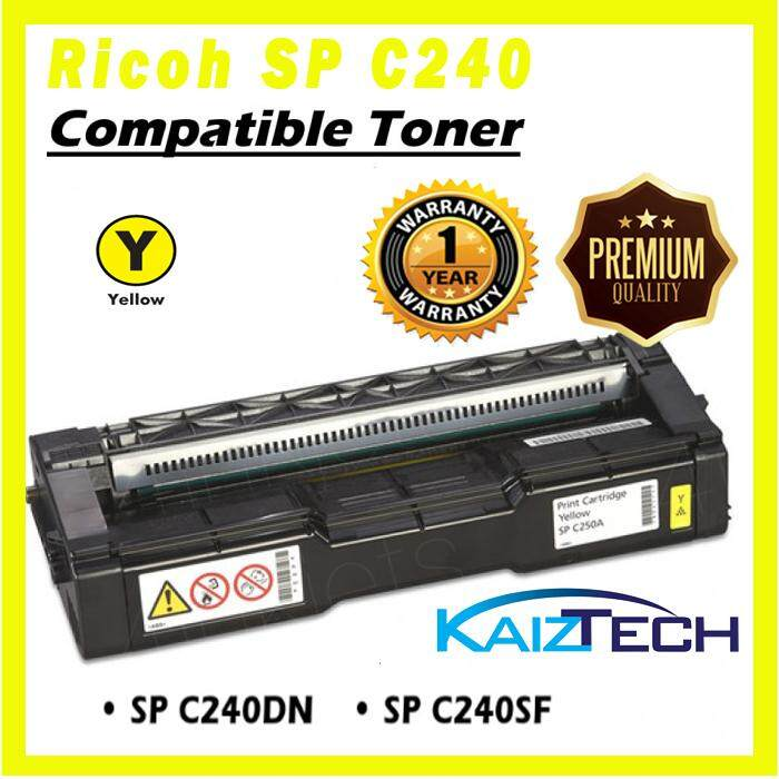 AAA Super Grade RICOH AFICIO C240DN / C240SF Yellow Toner Cartridge