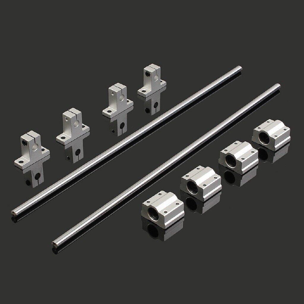 Car Replacement Parts - Linear Shaft Rod & 4 PIECE(s) SCS8UU Bearing Blocks 3D Printer CNC - Automotive