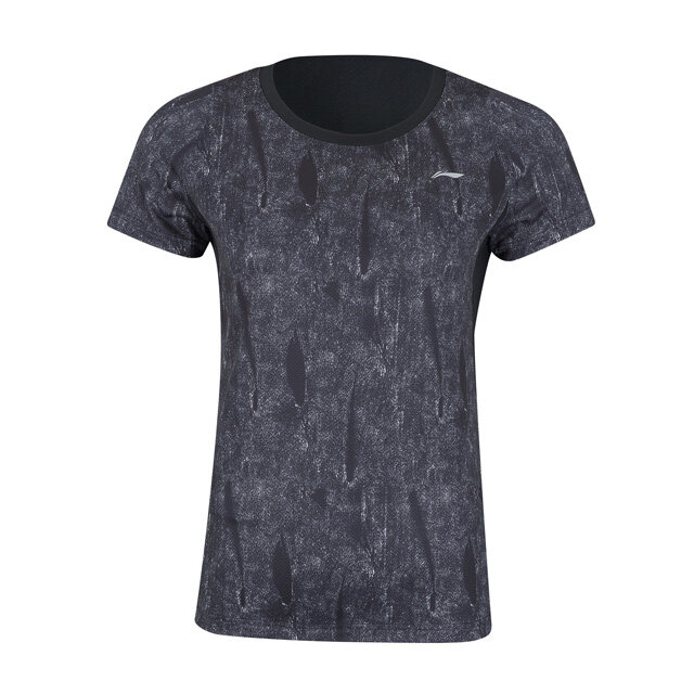 Li-Ning Women's Badminton T-Shirt - Black AAYP126-1