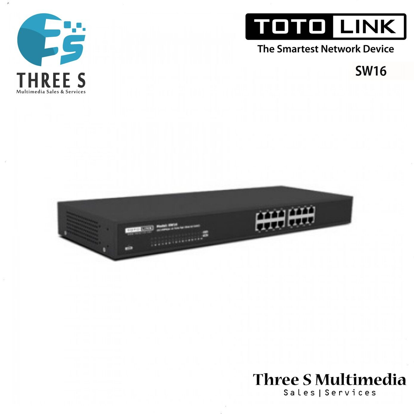 TOTO LINK 16-Port 10/100Mbps Unmanaged Switch SW16