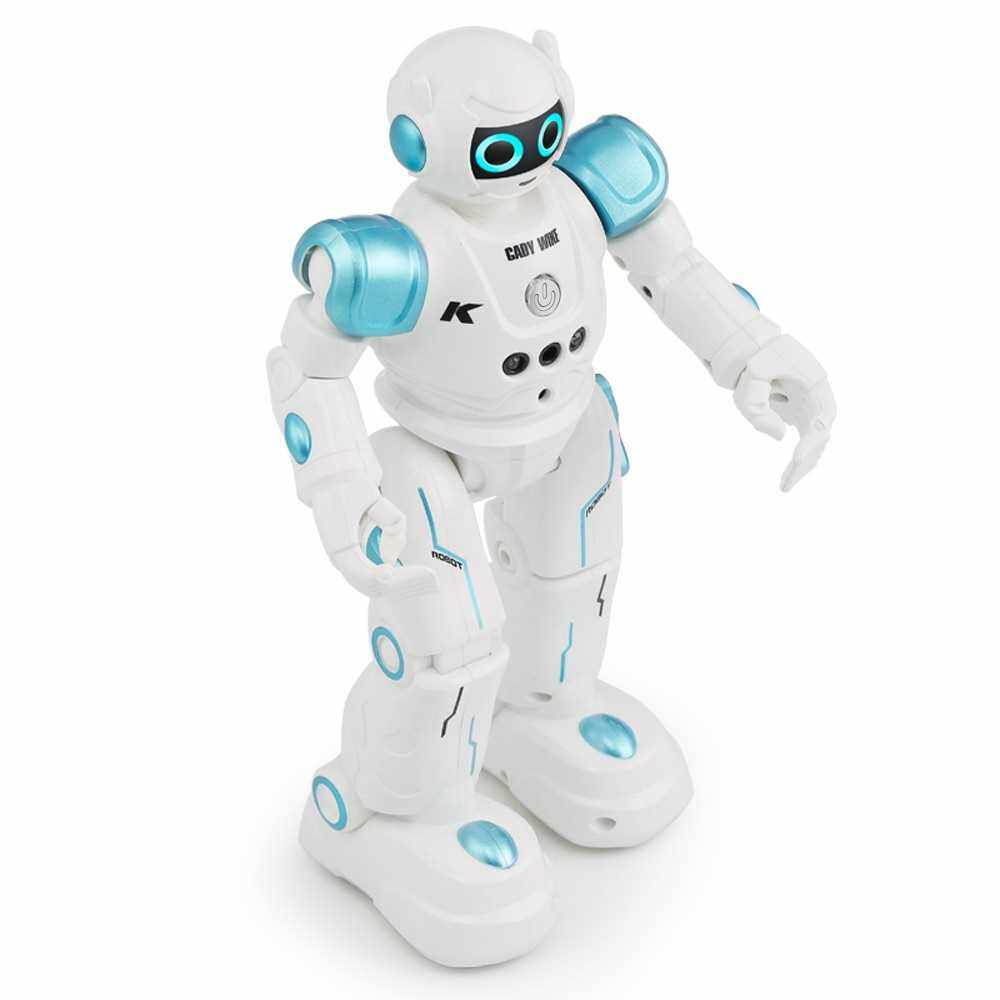Best Selling JJR/C R11 CADY WIKE Intelligent Robot Remote Control Programmable Gesture Sensor Music Dance RC Toy for Kids Christmas Gift (Blue)